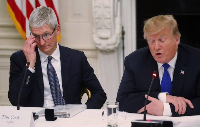 Apple CEO Tim Cook Warns Trump Over China Tariffs, Samsung Competition