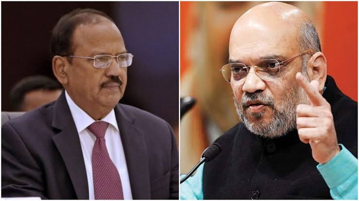 NSA Ajit Doval Briefs Union Minister Amit Shah On Kashmir Issue