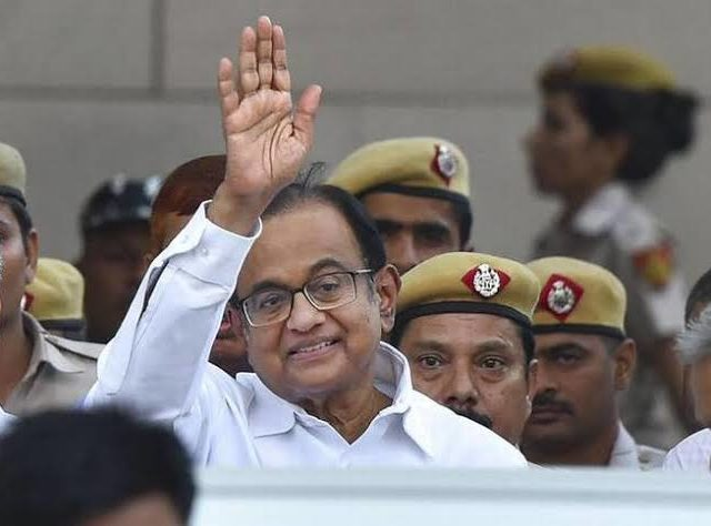 "P Chidambaram Says With Hand Gesture ""5%"", Mocks At Govt, Economy"
