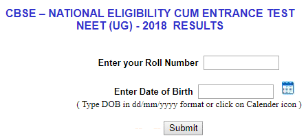How to Check CBSE NEET Result 2019