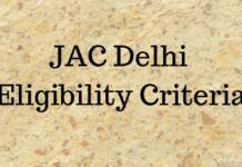 JAC Delhi Eligibility Criteria