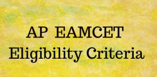 AP EAMCET Eligibility Criteria