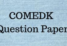 COMEDK Question Paper
