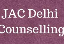 JAC Delhi Counselling