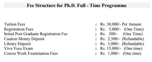 Nirma University PHD Fee Structure