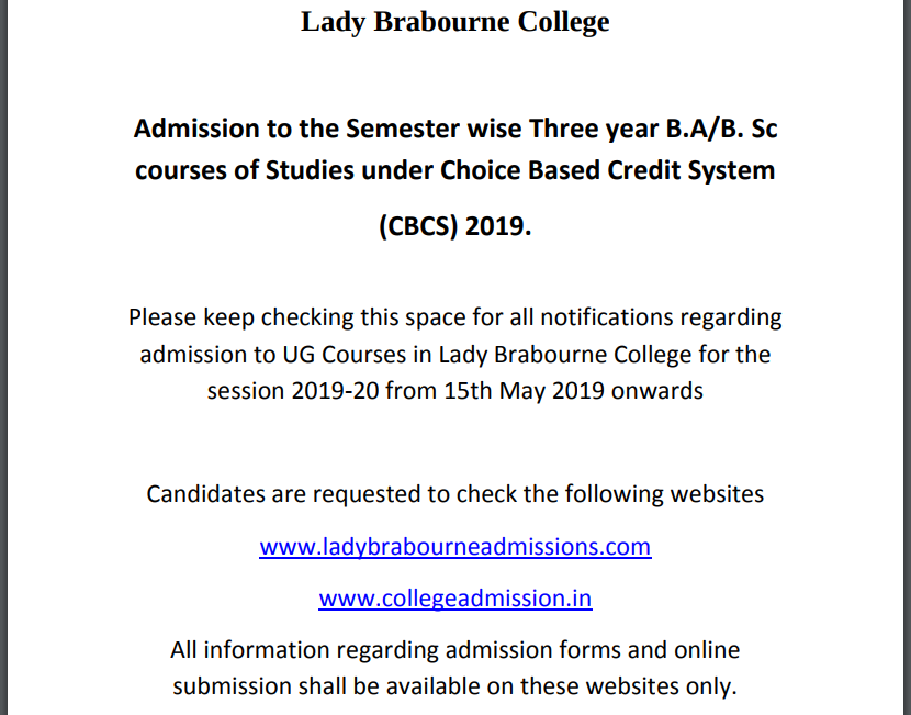 Lady Brabourne College 2019