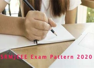 SRMJEEE Exam Pattern 2020