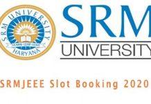 SSRMJEEE Slot Booking 2020