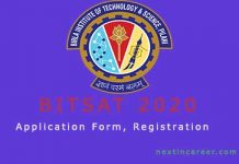BITSAT Application Form 2020