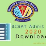 BITSAT Admit Card 2020