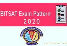 BITSAT Exam Pattern 2020