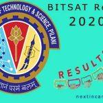 BITSAT Result 2020