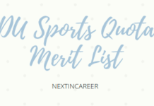 DU Sports Quota Merit List