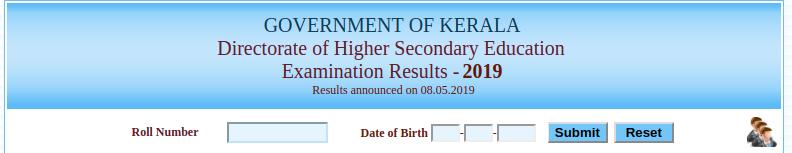 Kerala DHSE Result 2019 Login