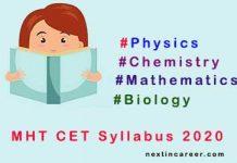 MHT CET Syllabus 2020