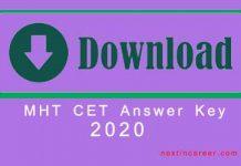 MHT CET Answer Key 2020