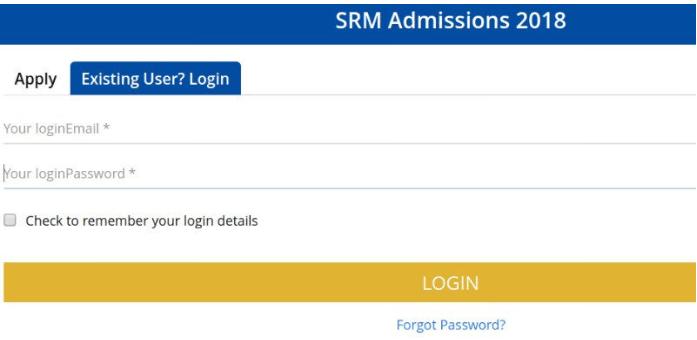 SRMJEEE 2019 admit card log in