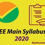 JEE Main Syllabus 2020