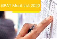 GPAT Merit List 2020