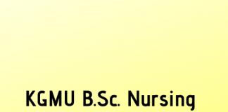 KGMU B.Sc. Nursing Result 2019