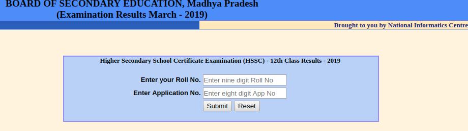 MP Board Class 12th Result 2019