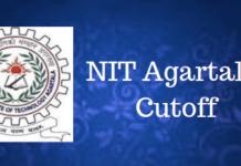 NIT Agartala Cutoff