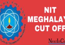 NIT Meghalaya Cutoff