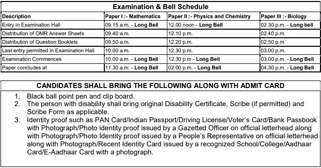 MHT CET 2019 Exam Schedule