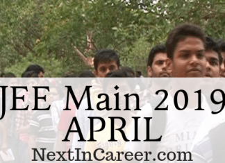 JEE Main 2019 April Exam