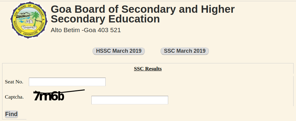 Goa SSC Result 2019
