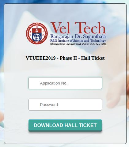 VTUEEE Hall Ticket 2019