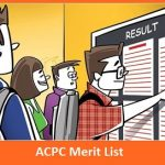ACPC Merit List
