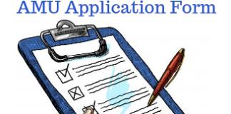 AMU Application Form