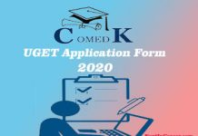COMEDK UGET Application Form 2020