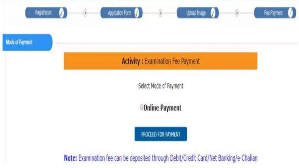 GPAT Registration Form 2020 Payment Mode