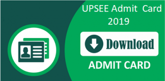 UPSEE Admit Card 2019