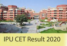 IPU CET Result 2020