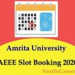 AEEE Slot Booking 2020