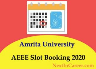 AEEE Slot Booking 2020