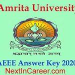 AEEE Answer key 2020