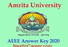 AEEE Answer key 2020