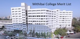 Mithibai college merit list