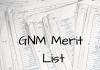 GNM Merit List