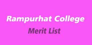 Rampurhat College merit list