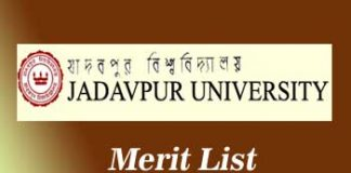 Jadavpur University Merit List