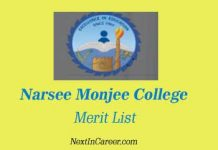 Narsee Monjee College Merit List