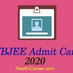 WBJEE Admit Card 2020