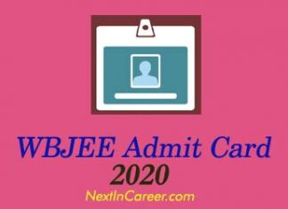 WBJEE Admit Card 2020