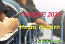 WBJEE Exam Pattern 2020