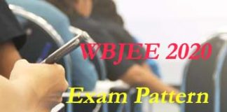 WBJEE Exam Pattern 2020